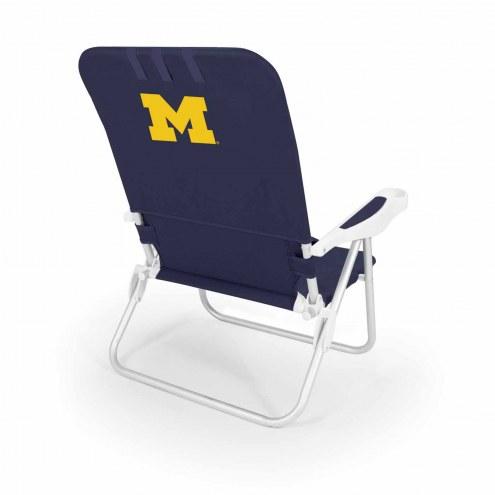 Michigan Wolverines Navy Monaco Beach Chair