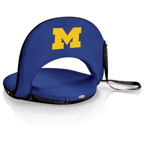 Michigan Wolverines Navy Oniva Beach Chair