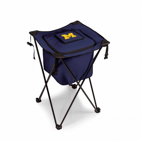 Michigan Wolverines Navy Sidekick Portable Cooler