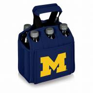 Michigan Wolverines Navy Six Pack Cooler Tote