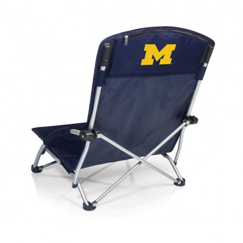 Michigan Wolverines Navy/Slate Tranquility Beach Chair