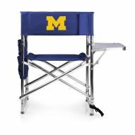 Michigan Wolverines Navy Sports Folding Chair