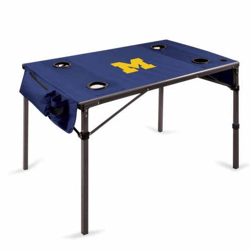 Michigan Wolverines Navy Travel Table