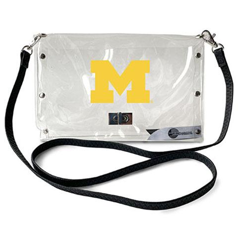 Michigan Wolverines Clear Envelope Purse