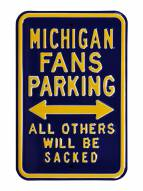 Michigan Wolverines NCAA Embossed Parking Sign