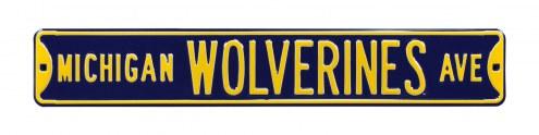 Michigan Wolverines NCAA Embossed Street Sign
