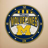 Michigan Wolverines NCAA Stained Glass Wall Clock