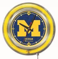 Michigan Wolverines Neon Clock