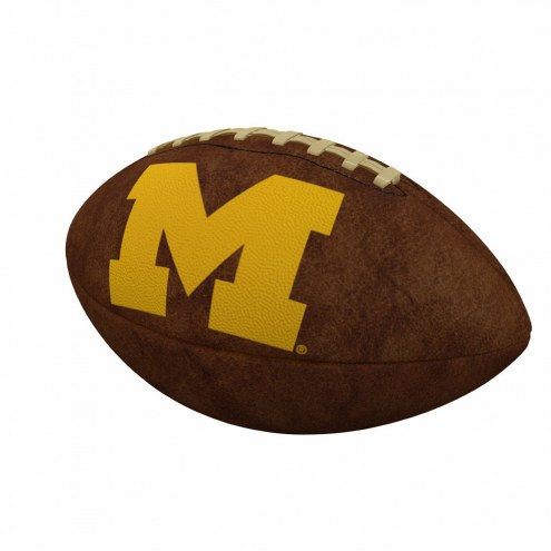 Michigan Wolverines Official Size Vintage Football