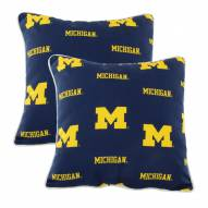 Michigan Wolverines Outdoor Decorative Pillow Set