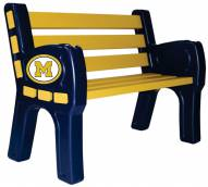 Michigan Wolverines Park Bench