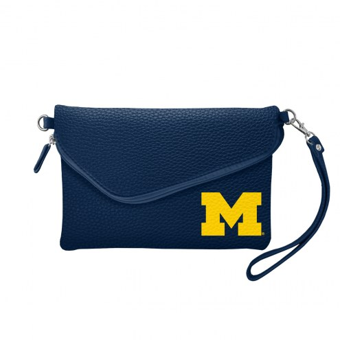 Michigan Wolverines Pebble Fold Over Purse