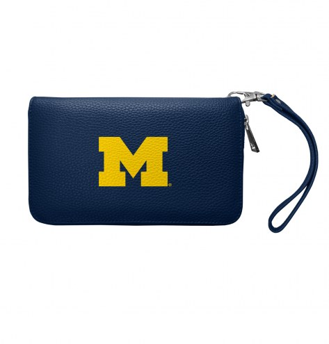 Michigan Wolverines Pebble Organizer Wallet