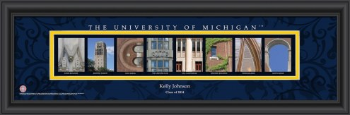 Michigan Wolverines Personalized Campus Letter Art