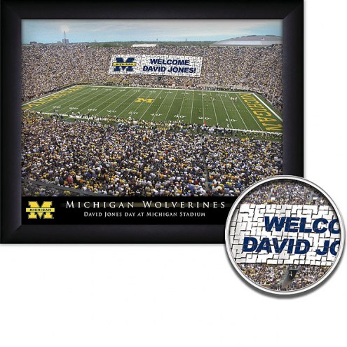Michigan Wolverines Personalized Framed Stadium Print