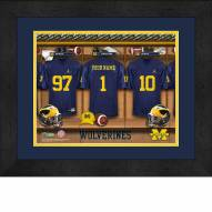Michigan Wolverines Personalized Locker Room 13 x 16 Framed Photograph