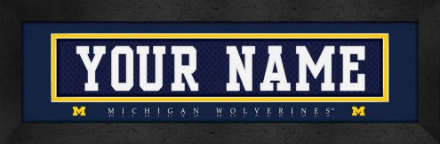 Michigan Wolverines Personalized Stitched Jersey Print