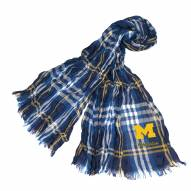 Michigan Wolverines Plaid Crinkle Scarf