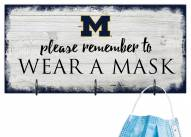 Michigan Wolverines Please Wear Your Mask Sign