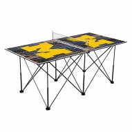 Michigan Wolverines Pop Up 6' Ping Pong Table