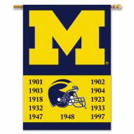 """Michigan Wolverines Premium Championship Year 28"""" x 40"""" Two-Sided Banner"""