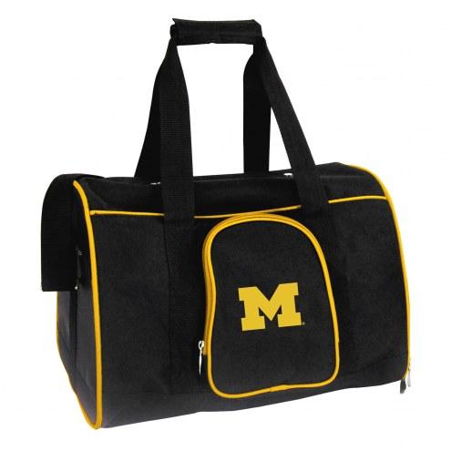 Michigan Wolverines Premium Pet Carrier Bag