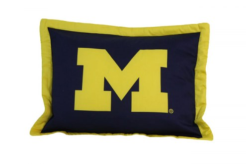 Michigan Wolverines Printed Pillow Sham