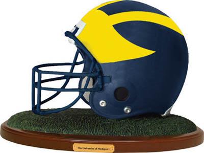 Michigan Wolverines Collectible Football Helmet Figurine