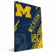 Michigan Wolverines Retro Canvas Print