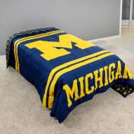 Michigan Wolverines Reversible Comforter Set