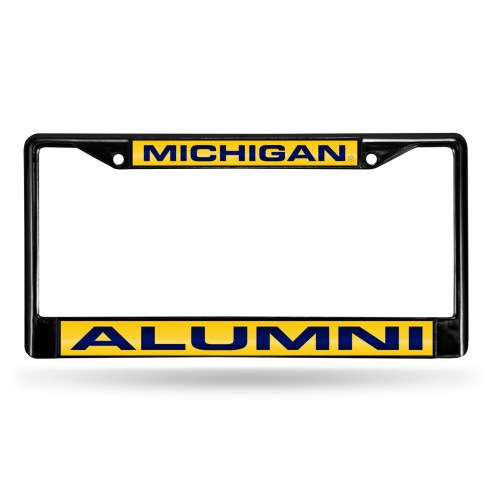 Michigan Wolverines Laser Black License Plate Frame