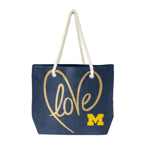 Michigan Wolverines Rope Tote