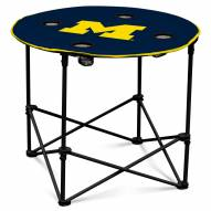 Michigan Wolverines Round Folding Table