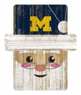 Michigan Wolverines Santa Ornament