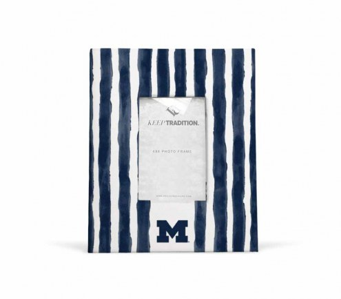 Michigan Wolverines School Stripes Picture Frame