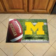 Michigan Wolverines Scraper Door Mat