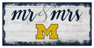 Michigan Wolverines Script Mr. & Mrs. Sign