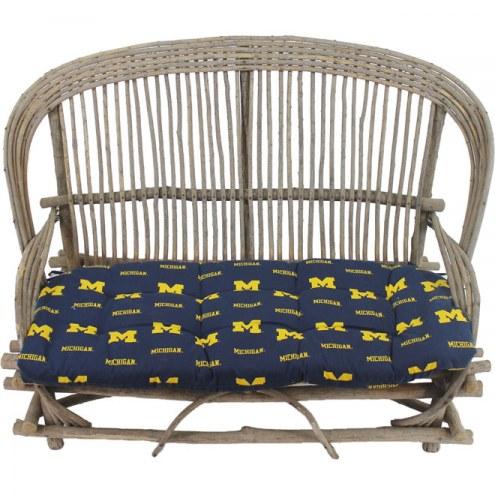 Michigan Wolverines Settee Chair Cushion
