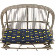Michigan Wolverines Settee Chair Cushion
