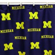 Michigan Wolverines Shower Curtain