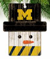 Michigan Wolverines Snowman Ornament