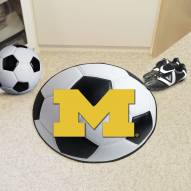 Michigan Wolverines Soccer Ball Mat