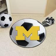 Michigan Wolverines Soccer Ball Mat