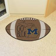 Michigan Wolverines Southern Style Football Floor Mat
