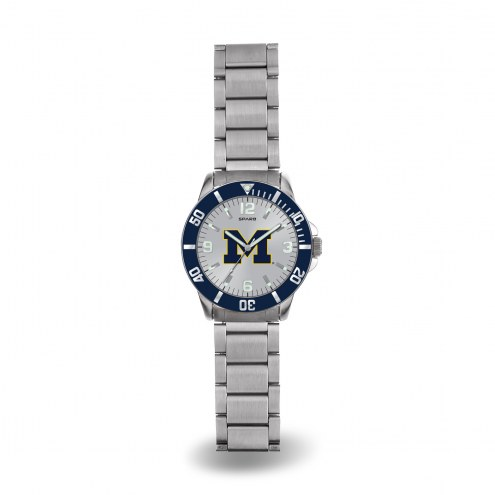 Michigan Wolverines Sparo Men's Key Watch