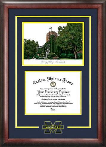 Michigan Wolverines Spirit Diploma Frame with Campus Image