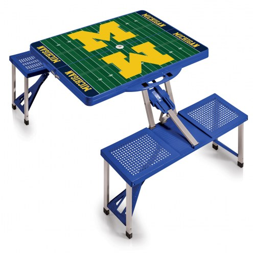 Michigan Wolverines Sports Folding Picnic Table