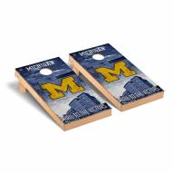 Michigan Wolverines Stadium Cornhole Game Set