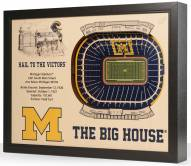 Michigan Wolverines 25-Layer StadiumViews 3D Wall Art