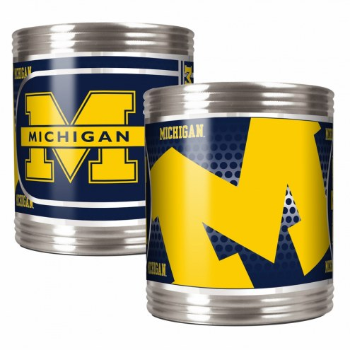 Michigan Wolverines Stainless Steel Hi-Def Coozie Set